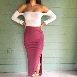 Charlotte Russe Maxi Slit Skirt